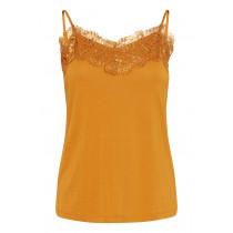 ICHI top i en smuk brændt orange farve