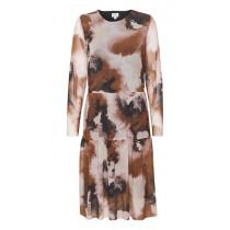 Saint Tropez mesh kjole i de skønneste efterårsfarver