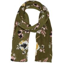 Part Two tørklæde i grønt med blomster