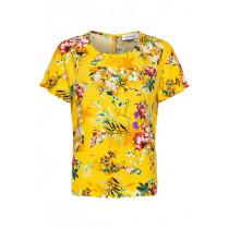 Denim Hunter gul bluse med blomsterprint