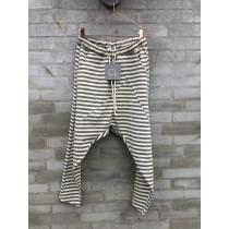 Cabana Living grå stribede baggy bukser