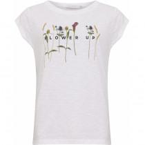 Coster Copenhagen t-shirt i hvid med blomster foran