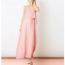 Saint Tropez rosa lang kjole