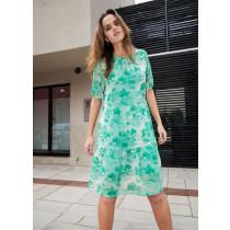 COSTER kjole i et smut grønt print