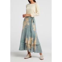 YAYA nederdel i lyseblå print.