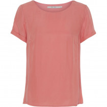 Costa mani støvet rosa bluse med korte ærme