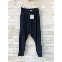 Cabana Living baggy velour bukser i mørkeblå