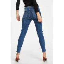 BESTSELLER Denim Hunter jeans i en mellemblå farve med lidt slid.