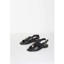 BUKELA sorte sandaler i skind