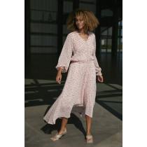 COSTER CPH kjole i lyserød med prikker