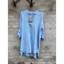 Cabana Living lyseblå skjorte med 3/4 ærmer