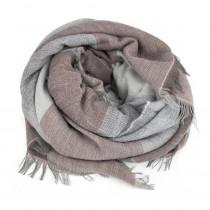 Redesign By Dixie tørklæde i rosa og grå
