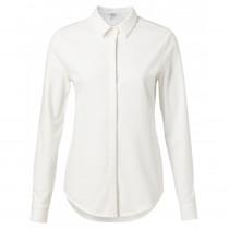 YAYA hvid skjorte med masser stræk
