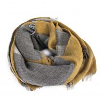 Re:Designed Tørklæde i gule og grå farver