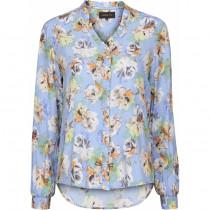 Caddis Fly bluse i lyseblå med blomster