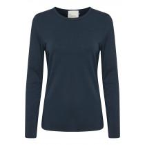 Denim Hunter mørkeblå t-shirt med lange ærmer
