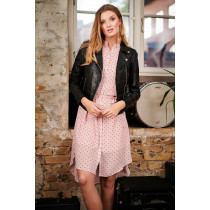 Caddis Fly rosa kjole med prikker