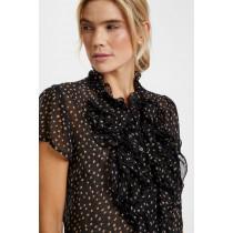 Saint Tropez sort bluse med prikker