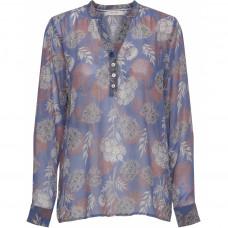 Coster Mani bluse i smukke blå farver