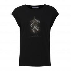 COSTER CPH sort t-shirt med misteltentryk.