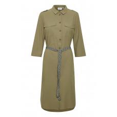 26d2e001652 Saint Tropez støvet grøn skjorte kjole