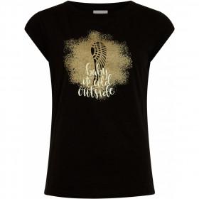 Coster Copenhagen t-shirt i sort med print foran