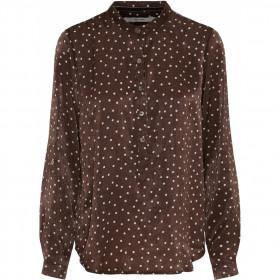 Costa Mani brun bluse med prikker