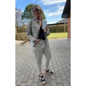 Cabana Living beige stribede baggy bukser