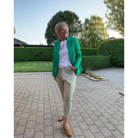 Cabana Living grøn stribede baggy bukser