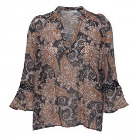 Costamani bluse i brunt og sort print