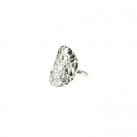 Pure By Nat sølvbelagt ring
