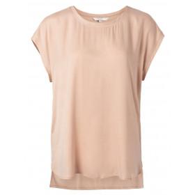 YAYA cupro/viskose bluse i sart rosa