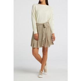 YAYA nederdel med bindebånd og elastik i ryggen